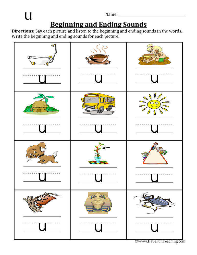 CVC Worksheets Have Fun Teaching 10 Beginning and Ending Sounds
