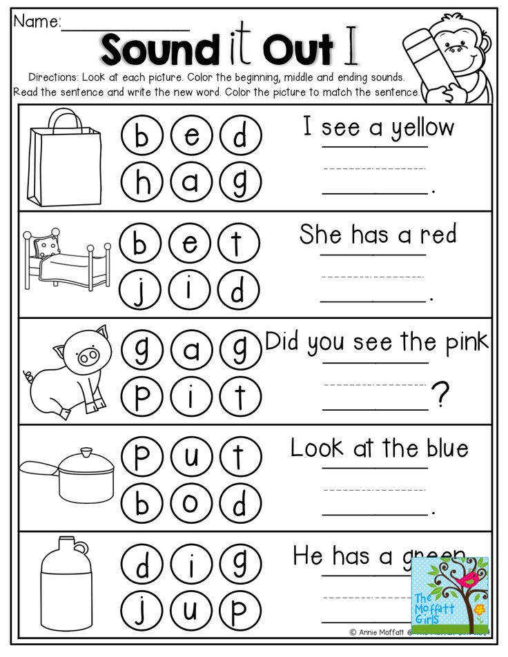 Sound it out Beginning middle and ending sounds Write and read the sentence