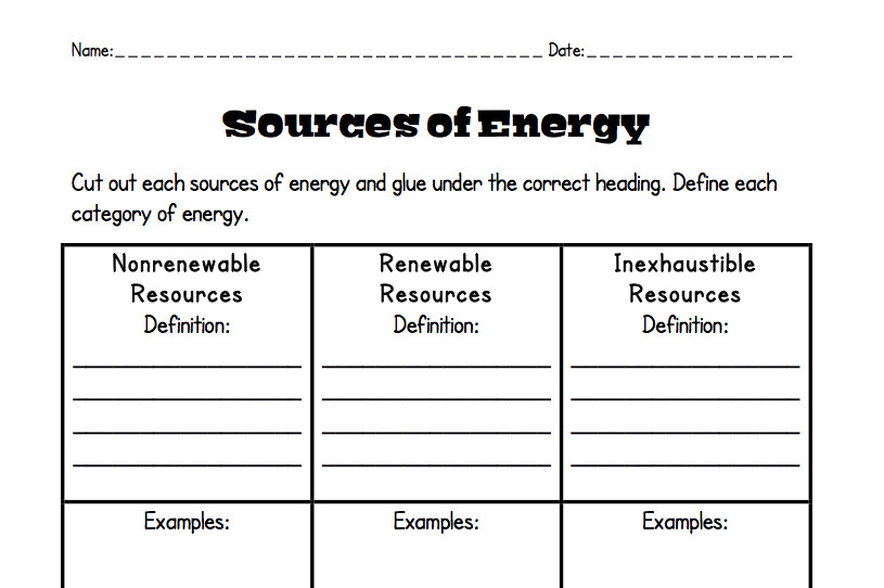 Saved Identifying Energy Transformations Worksheet Answers Key