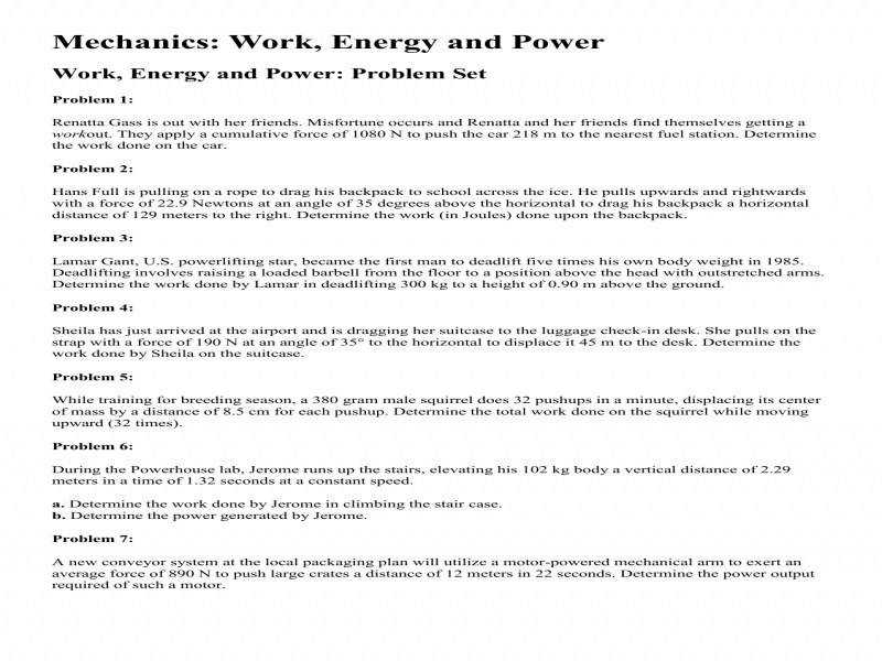 Potential And Kinetic Energy Worksheets Worksheets