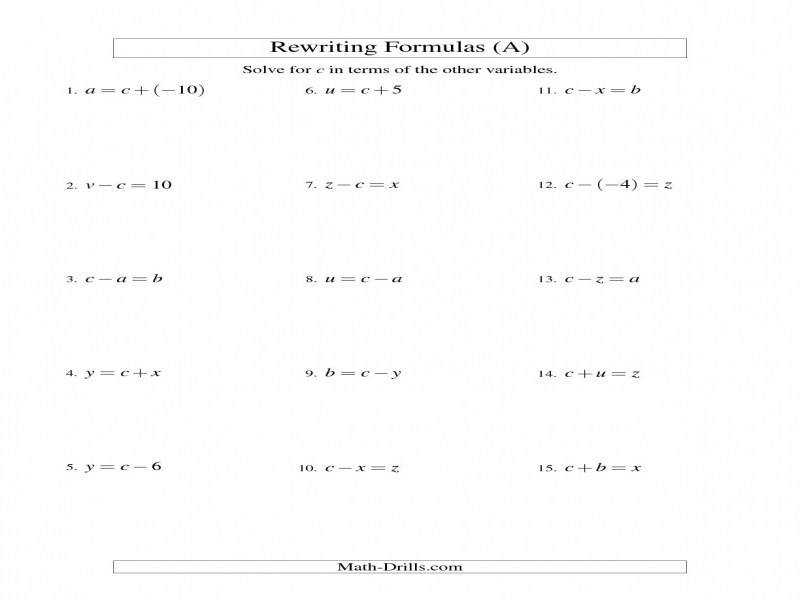 "9 photos of the "" e Step Equations Worksheet Pdf"""