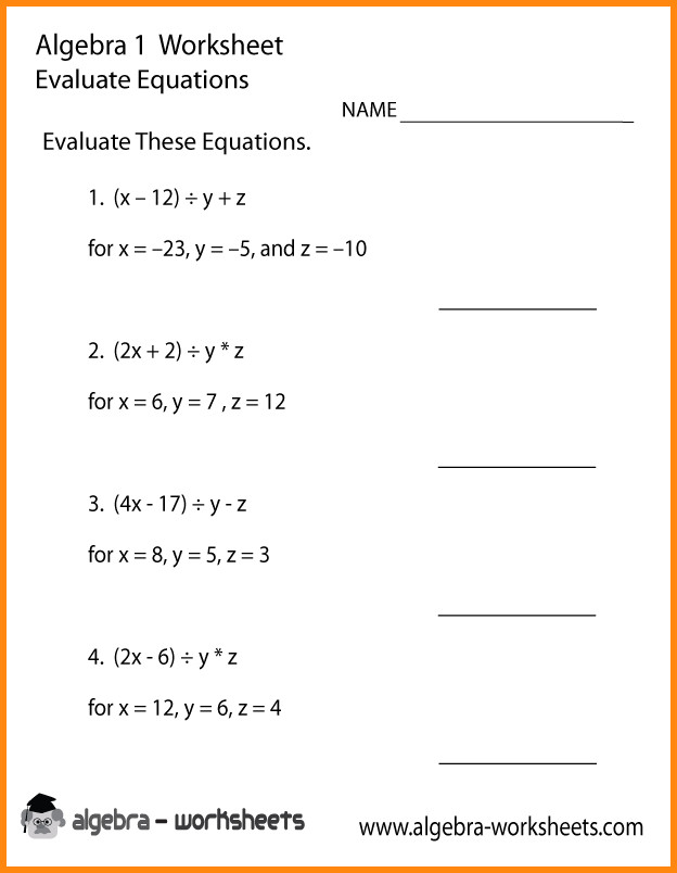 writing algebraic equations worksheet Free algebra 1 worksheets created with infinite algebra 1 printable in convenient pdf format  test and worksheet generators for math teachers all worksheets created with infinite algebra 1 pre-algebra worksheets geometry worksheets algebra 2 worksheets  writing linear equations graphing absolute value equations graphing linear.