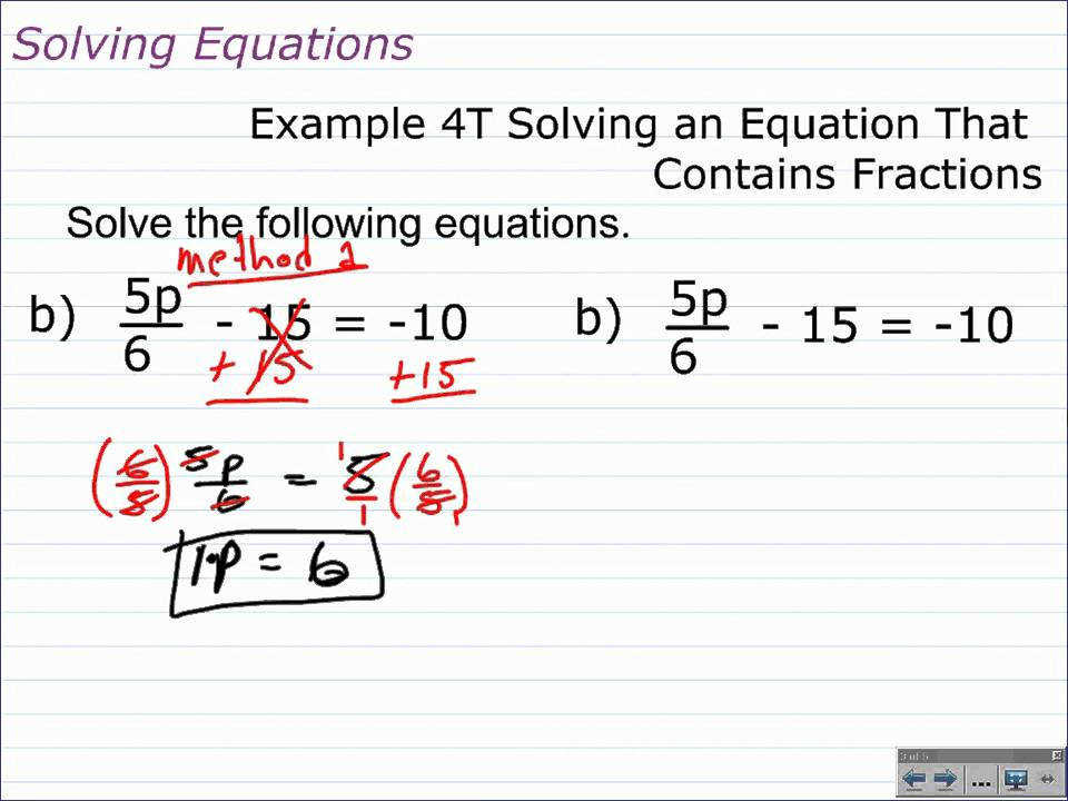 How to Solve Multi Step Equations with Fractions and Decimals
