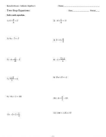 Two Step Equations With Fractions Worksheet Calleveryonedaveday