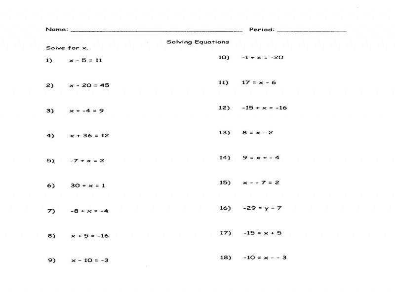 Solving Equations With Variables Both Sides Worksheet Answers 2