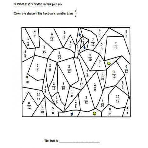 paring and Ordering using Equivalent Fractions Worksheets 3rd 4th Grade 5