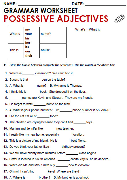 Quality ESL grammar worksheets quizzes and games from A to Z for teachers