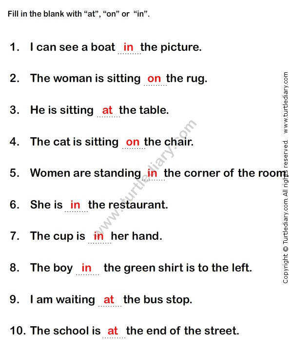 Free Worksheets worksheets of english grammar 1000 ideas about Prepositions Worksheets on Pinterest