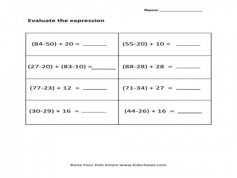 Evaluate Expressions Worksheet Homeschooldressage. Best Ideas Evaluating Variable Expressions Worksheets For. Worksheet. Evaluating Expressions Worksheets At Mspartners.co