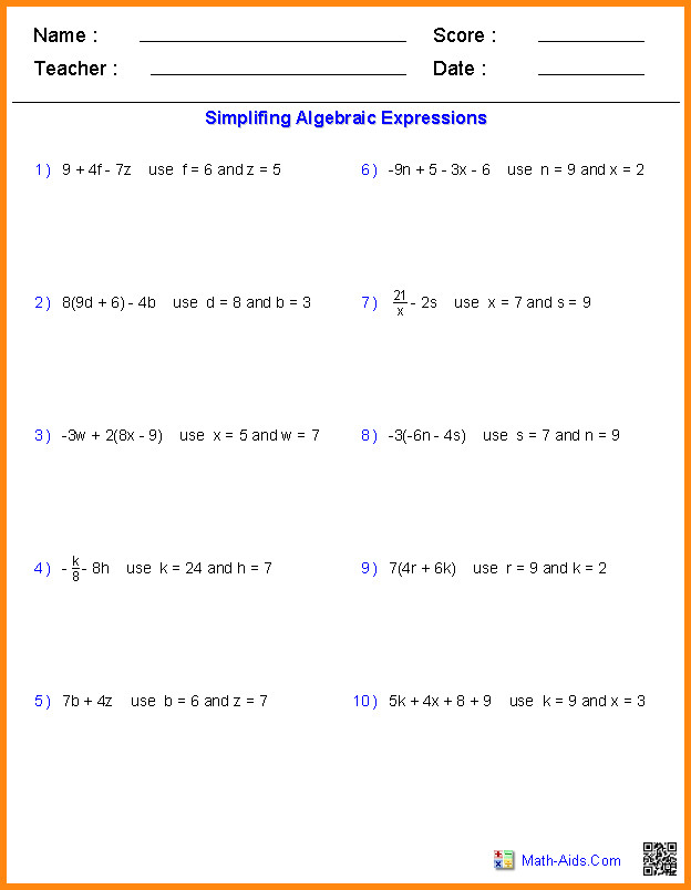 math expressions worksheet evaluate expressions worksheet 11 math expressions worksheet