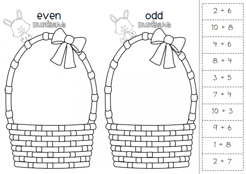 even and odd numbers worksheets easter