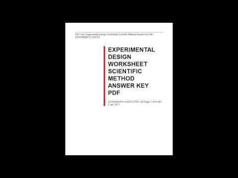 Experimental Design Worksheet Scientific Method Answer Key