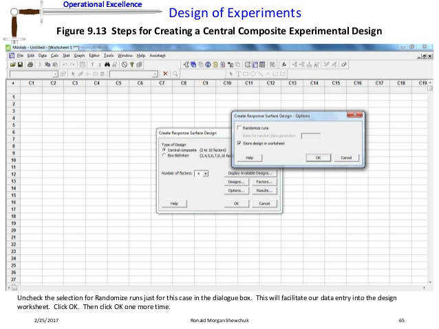 65 Operational Excellence Design of Experiments
