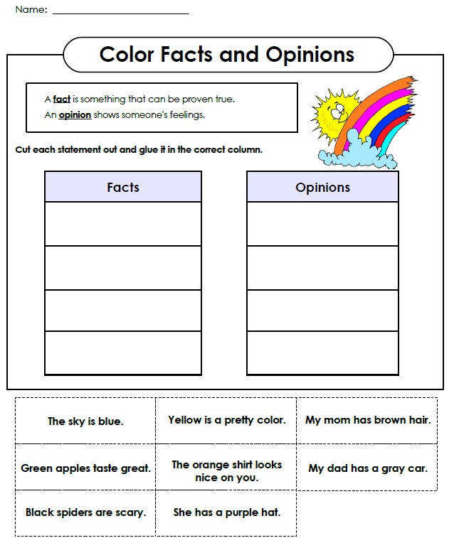 Coloring Fact and Opinion