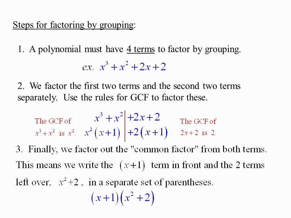 Factoring Polynomials Worksheet Elegant 6 6 Factoring by Grouping Objective after Pleting This Section