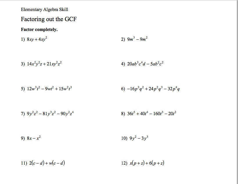 Factoring Gcf Worksheet Homeschooldressage. Free Factoring Special Case Polynomials Worksheets Math Aids. Worksheet. Factoring Trinomials Worksheet Special Cases At Mspartners.co