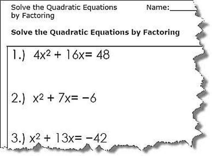 Algebra algebra 2 factoring review worksheet answers Pre Algebra and Algebra