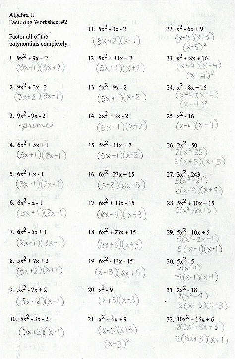 Factoring Polynomials Quiz Review Mrs Image Information