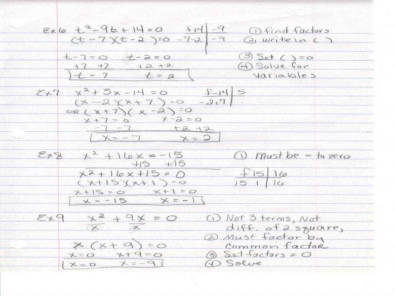 Factoring Trinomials The Form X2 Bx C Worksheet Worksheets