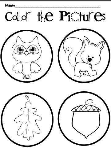 Fall Worksheets Freebie