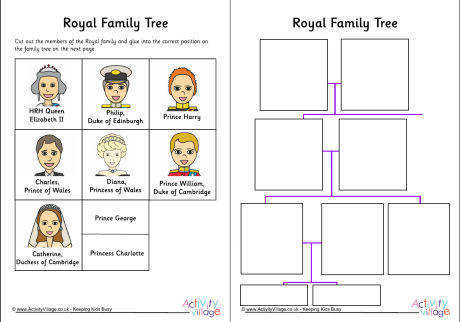 royal family tree cut and stick workshee 460 3