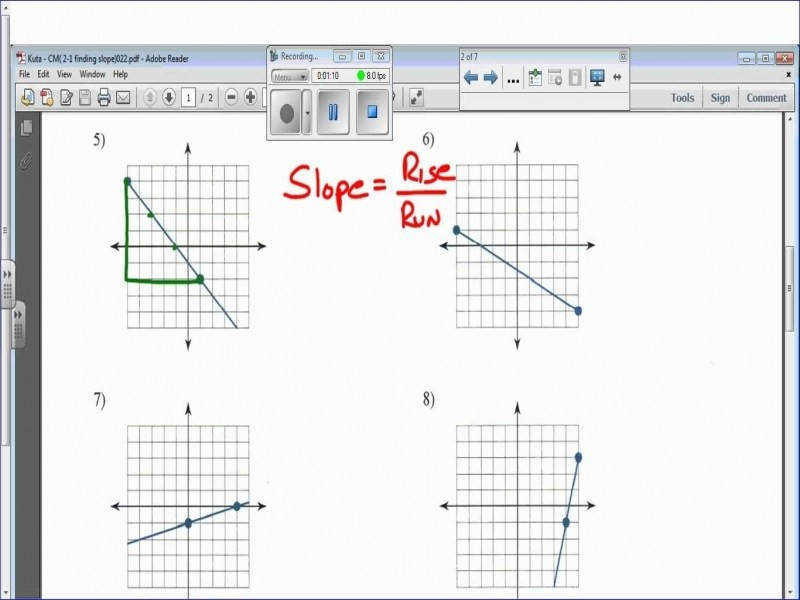 """9 photos of the """"Find The Slope Worksheet"""""""