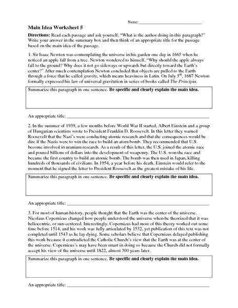 reading sage close passages free main idea worksheets multiple ...