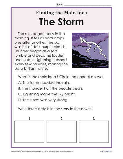 Find the Main Idea Storms