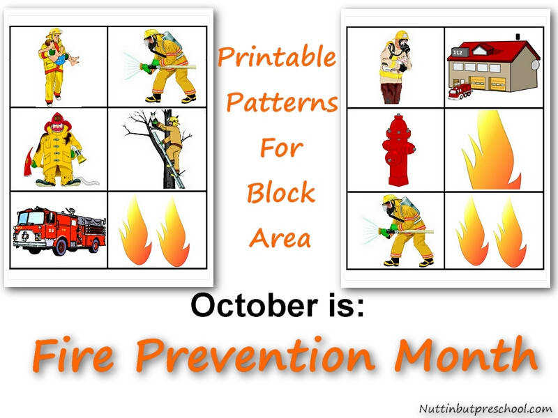 Printable Firefighters and Flames