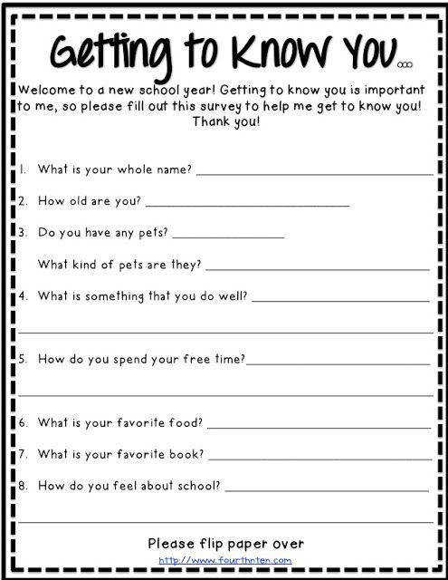 Image result for first day of school activity worksheets