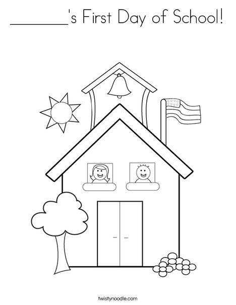 School with Kids Coloring Page