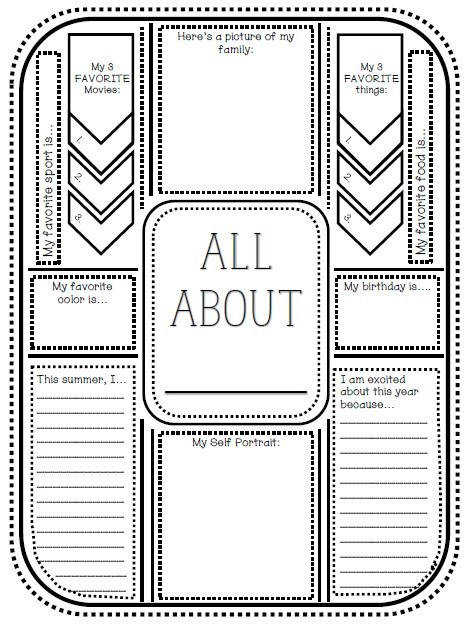Free Printable Download First Day of School Get To Know You Activity