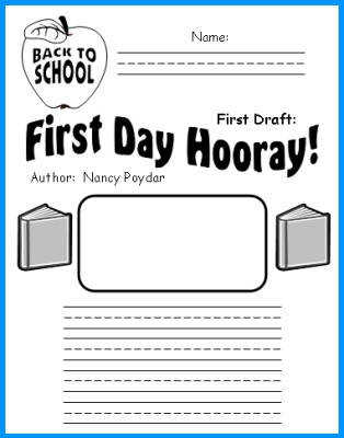 First Day Hooray Printable Worksheets for Elementary School Students
