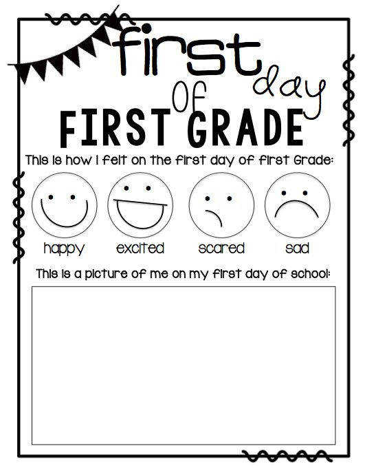 Worksheets First Day First Grade Worksheets 1000 images about first grade beginning of the year on