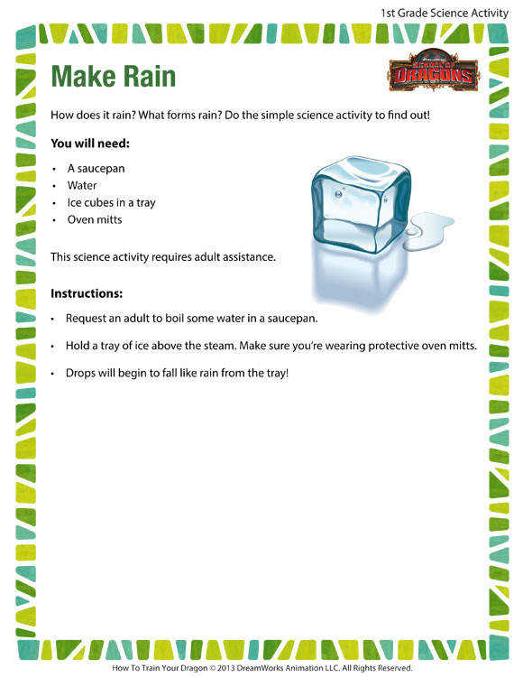 Make Rain Printable Science Activities