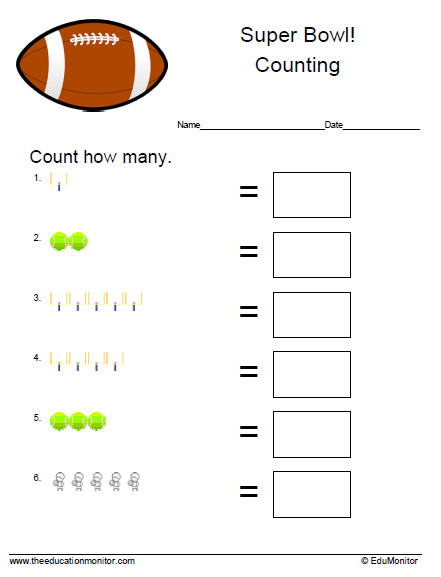 P K Counting Worksheets Addition Worksheets Fractions Worksheets