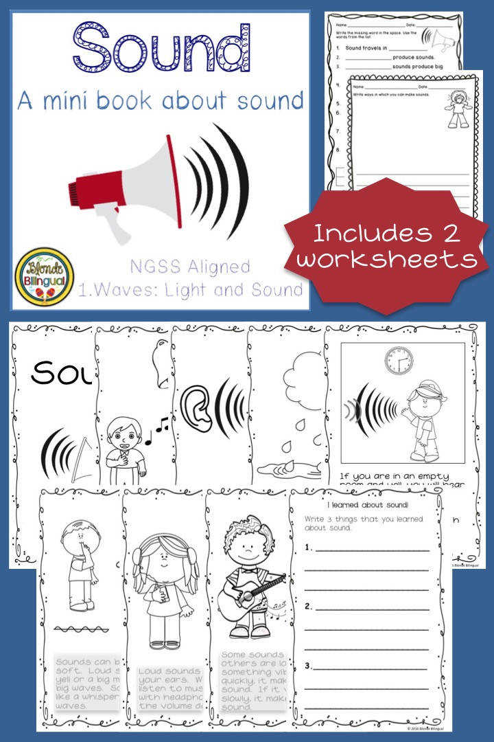 Add to your light and sound unit with this mini book and worksheets They were