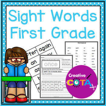 First Grade Sight Word Worksheets and Activities