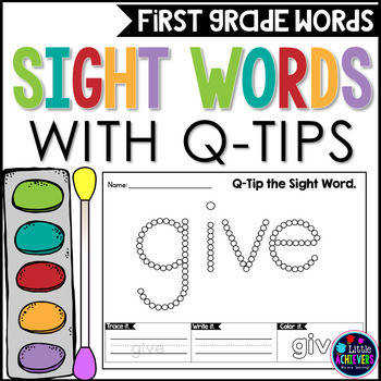 Q Tip Painting First Grade Sight Words Worksheets