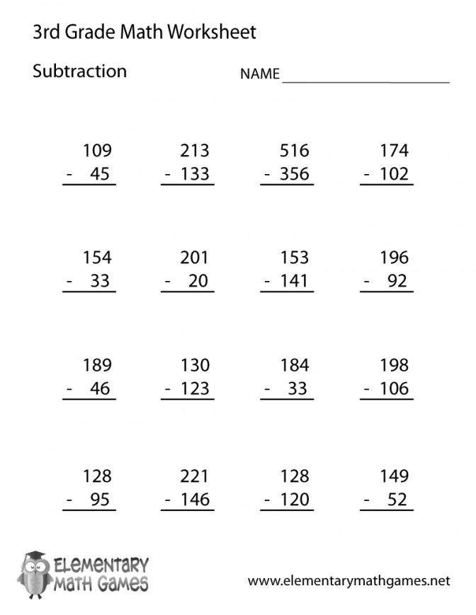 First Grade Subtraction Worksheets Homeschooldressage. Third Grade Subtraction Worksheet First Halloween Worksheets 3rd Prin Medium. Worksheet. 1st Grade Addition And Subtraction Worksheets At Clickcart.co