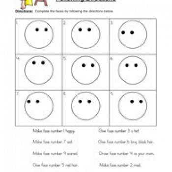 Following Directions Worksheets Activities Goals and More