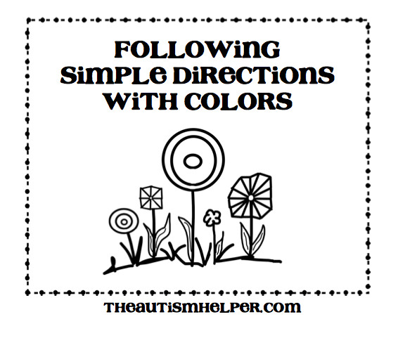 Following Simple Directions with Colors