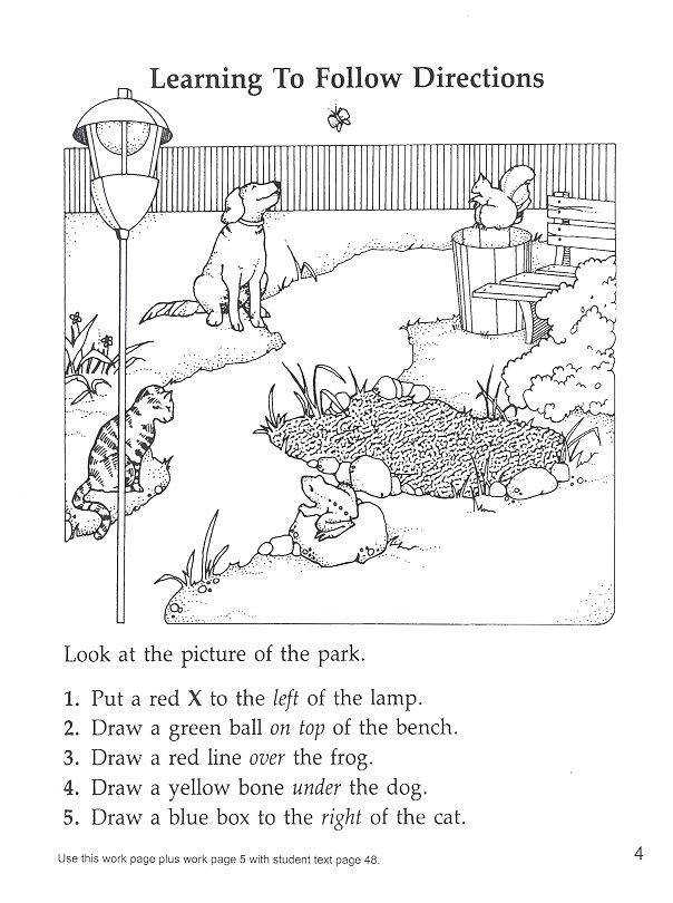 Coloring Instructions Coloring Page