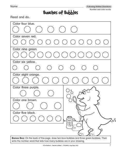 Follow Directions Worksheet Smilies