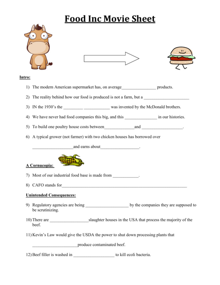 Food Inc Movie Worksheet Downloads full 791x1024 thumbnail 150x150