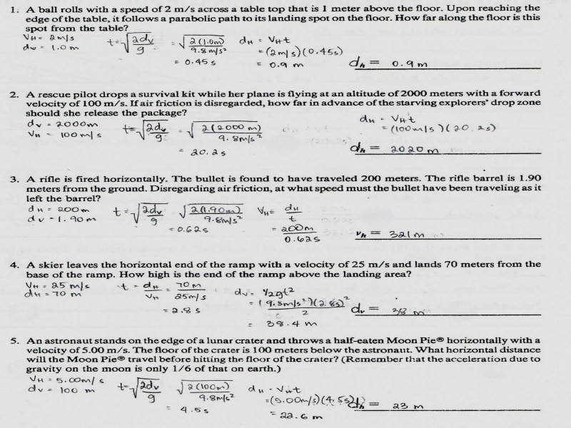 Physics1202 2010 Projectile Motion Continued