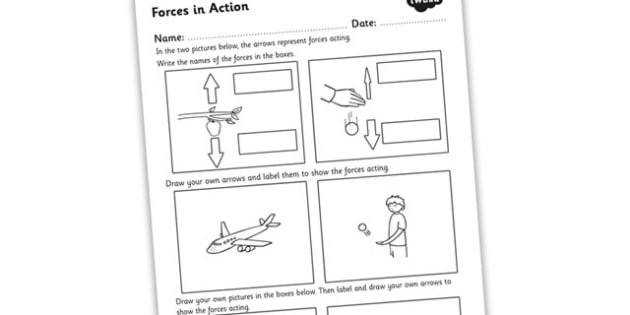 Forces in Action Worksheet forces forces and motion forces worksheet how forces