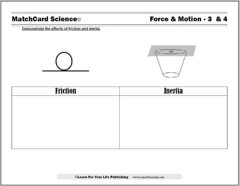 Friction Worksheet
