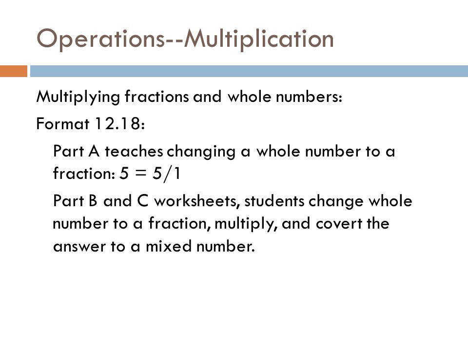 41 Operations Multiplication
