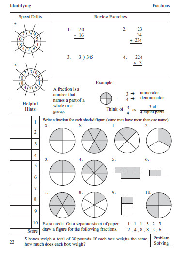 singapore math fractions worksheets Google Search